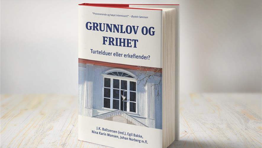 Bidra.no - Ett eksemplar av boken ,Grunnlov og frihet: turtelduer eller erkefiender?'
