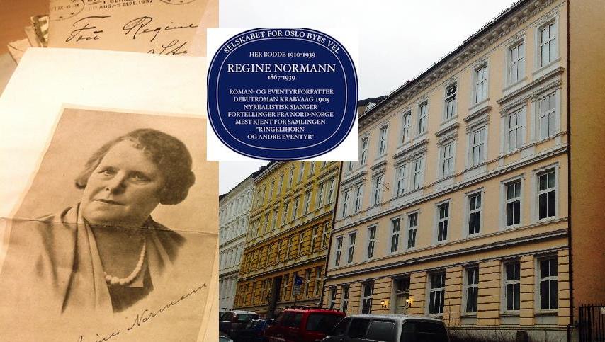 Bidra.no - Et blått skilt i Oslo for Regine Normann