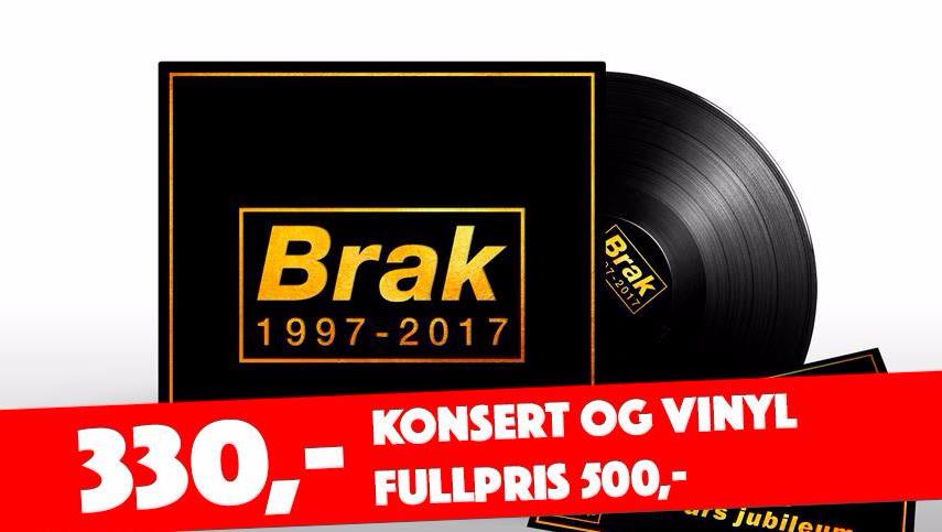Bidra.no - 30 tilgjenglig av vinyl og jubileumsbillett. Må bestilles før jubileumet 330,- (fullpris 500,- + porto)