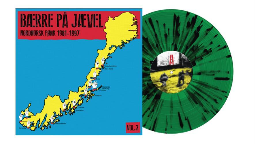 Bidra.no - Bærre på Jævel Vol. 2 (alle tre fargene: grønn splatter, gul og svart vinyl) Sendes i Norge