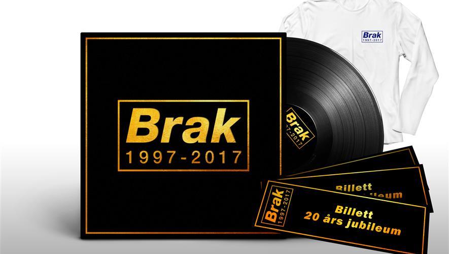 Vinyl, konsertbillett og longsleeve