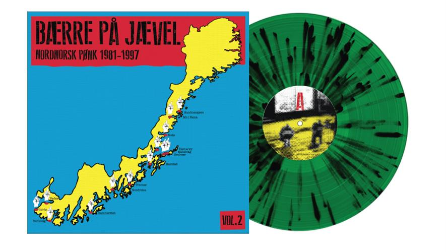 Bidra.no - LP-plate: Bærre På Jævel - nordnorsk pønk Vol. 2